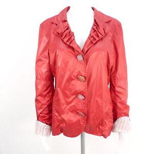 BOTTEGA leichte Übergangsjacke Jacke rot Glanz Damen Gr. XL Jackets Coats