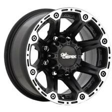 "NEW SET 20"" Inch Dick Cepek Torque 20x9 8x165.1(8x6.5"") +13mm  Black Wheels"