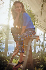 Aralia Pants Printed Cropped Tapered Trousers By Elevenses Anthropologie, Sz 10