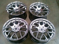 "Porsche Ruger Mesh Silver 19"" wheels rims 911/987/997/991 Cayman Carrera Boxster"