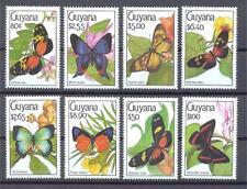 GUYANA 1990 Butterflies Sc.#2332-39 MNH **