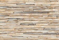 murale Bianco slavato legno carta da parati fotografica arte grande parete di