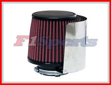 """UNIVERSAL 3"""" AIR FILTER WITH AIR FILTER STAINLESS STEEL HEATSHIELD COVER"""