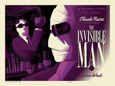 "Tom Whalen Universal Classic Monsters ""Invisible Man"" Poster Print Regular"