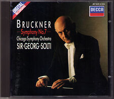 Sir Georg SOLTI: BRUCKNER Symphony No.7 DECCA CD 1988 Chicago Orchestra Sinfonie