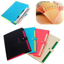 Lastest Plastic 8 Pockets A4 Paper File Folder Cover Holder Document Office Use