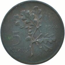 COIN / TURKEY / 5 KURUS 1974   #WT17253
