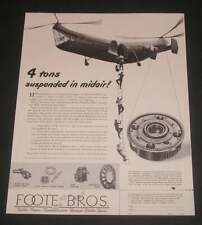1948 Us Navy Piasecki Hrp-1 Military Transport Helicopter Foote Bros Magazine Ad
