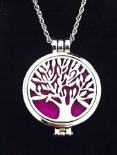 Aromatherapy Perfume Essential Oil Diffuser Locket Pendant Necklace Tree Of Life