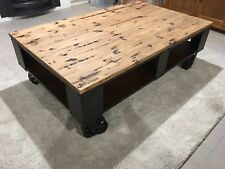 INDUSTRIAL COFFEE TABLE   in excellent condition