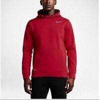 NIKE NEW THERMA-SPHERE TRAINING PULLOVER HOODIE RED 644308-657 MENS SIZE SMALL