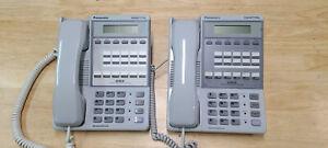 2x - Panasonic DBS VB-42213 Speaker Display Phone (Grey)