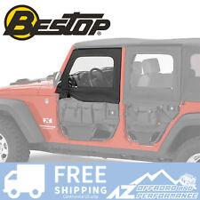 Bestop HighRock Element Front Upper Doors - Black Diamond 07-18 Jeep Wrangler JK
