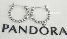Genuine Pandora String Of Beads Hoop Sterling Silver Earrings #297532 S925 ALE