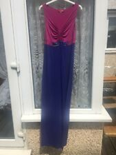 BODEN Long Maxi Dress Pink Purple UK 10 Twisted V Neck Jewels Gems Sequins Airy