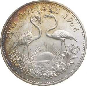 Better - 1966 Bahama Islands 2 Dollars - TC *452