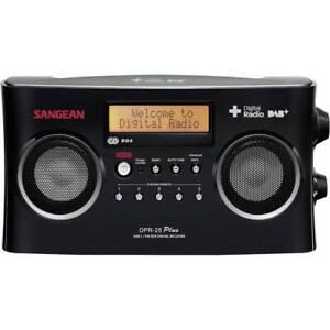 Sangean DPR-25+ Kofferradio DAB+, UKW AUX Akku-Ladefunktion Schwarz