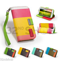 WALLET LEATHER CASE COVER FOR SAMSUNG GALAXY S3 I9300 / S4 I9500 SCREEN GUARD