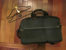 """Tumi G4 Black 22"""" Expandable Messenger Carry-On Bag Suitcase with Hangers & Lock"""