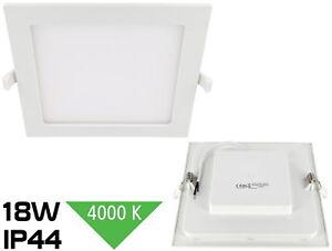 Slim LED 18W Malo Foco Empotrable IP44 230V 1450lm 4000K Humidor Foco Empotrado