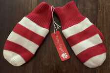 Toby Tiger Red And White Stripe Knitted Mittens/Gloves Medium- 1-2yrs 💐BNWT
