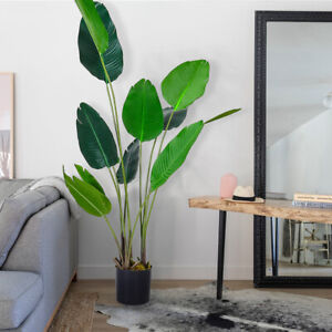 6FT Large Artificial Plants Banana Tree Realistic Garden Home Decor Potted Plant