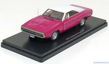 1:43 Ertl/Auto World Dodge Charger R/T 1970 pink/white