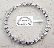 Bracciale Tennis con Cristalli originali SW10 uomo donna colore argento - bianco