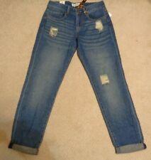 True Freedom Jeans JUNIORS DISTRESSED Size 1 Reg 30x29 Med Denim