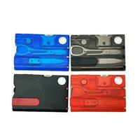 Pocket Credit Card 10In1 EDC Multi Tools Outdoor Survival Camping Box H0M1