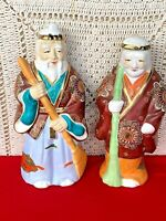 "RARE Sake Decanter ""Kamotsuru"" Japanese Chinese Liquor Decanter Buddha Set of 2"