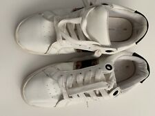 Time and True womens White Tennis shoes Memory foam Leopart stripe