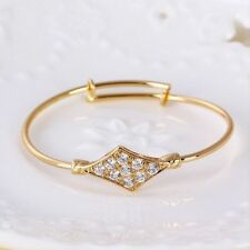 "9ct 9K Yellow ""GOLD Filled"" CZ Baby toddler Bangle Bracelet 44mm. Lovely Gift"""