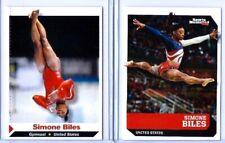 (2) SIMONE BILES SPORTS ILLUSTRATED TEAM U.S.A. GYMNASTICS ROOKIE CARD LOT