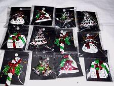 12pcs Brooch Pin Vintage Rhinestone Christmas for Christmas wholesale Lot.