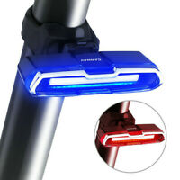 Bicycle Taillight Tail Light Bike Rear Lamp USB Rechargeable Red Blue Flashable