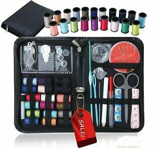 Sewing Kit Measure Scissor Thimble Thread Needle Storage Box Travel Set