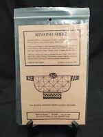 NEW UNCUT KIMONO SHIRT JACKET SEWING PATTERN BY MARIT LEE KUCERA