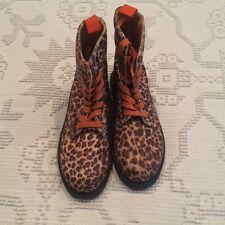 Charles Albert Cheetha Print Boots - Size 6