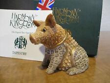 Harmony Kingdom Gabardine Pig Tapestry Series David Winter Uk Made Box Figurine