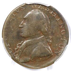 (1795) PCGS XF 40 Plain Edge Washington North Wales Colonial Half Penny 1/2p