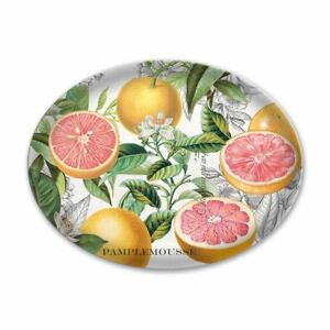 Michel Design Works Glass Soap Trinket / Dish Pink Grapefruit - NEW