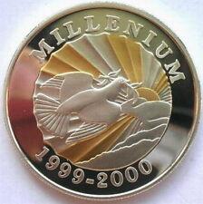 Haiti 2000 The Sun Millennium 500 Gourdes Silver Coin,Proof