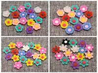 100 Mixed Color Flatback Resin  Flower Cabochons  Appliques For phone wedding