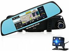 Car Camera DVR 6.86 Dual Lens Dash Cam Car GPS Navigation With Rearview Mirror