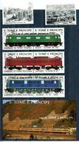 Sao Tome e Principe MiNr. 1049-54 + Block 179 postfrisch MNH Eisenbahn (Eis380