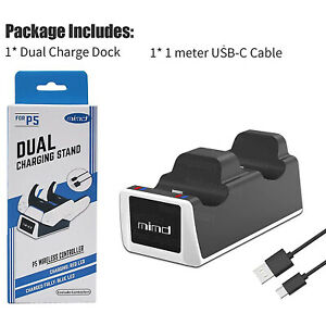 PS5 Dual Charging Station Controller Charger Dock For Sony PlayStation DualSense