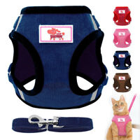 Cat Walking Jacket Harness & Leash Escape Proof Pet Puppy Dog Mesh Vest Clothes