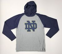 New Under Armour Notre Dame Fighting Irish Stadium Hoodie Men's Large Grey Blue
