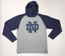 New Under Armour Notre Dame Fighting Irish Stadium Hoodie Men's Large Grey Blue